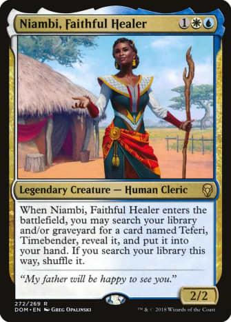 Niambi, Faithful Healer mtg