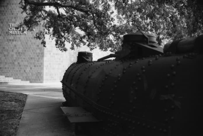 Reproduction of a Civil War era submarine