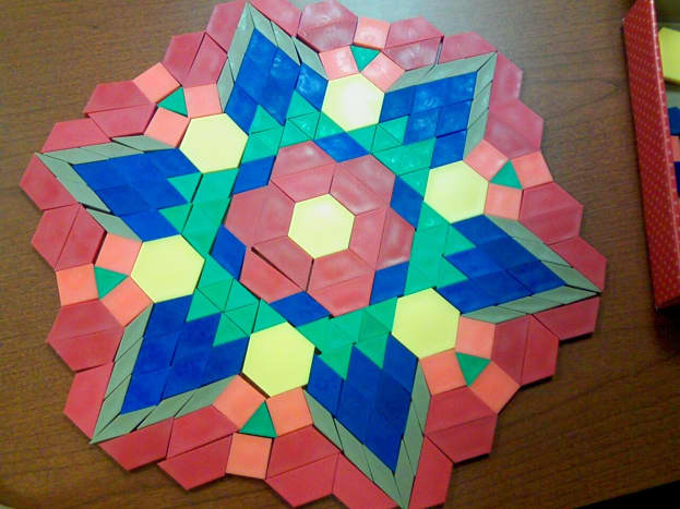 This was created by my son in less than five minutes. This was the first time he had ever seen this set of shapes.