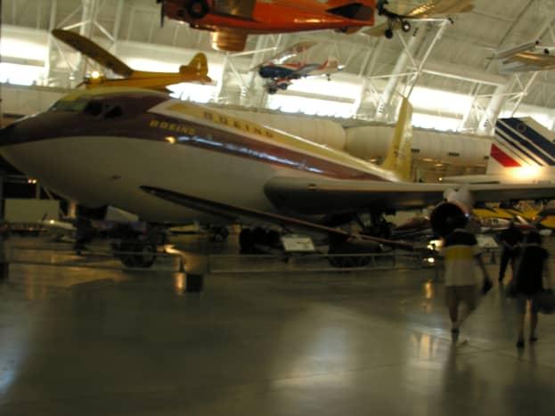 "The Boeing 707 prototype, a model 367-80 ""Dash 80"" at the Udvar-Hazy Center, June 2018."