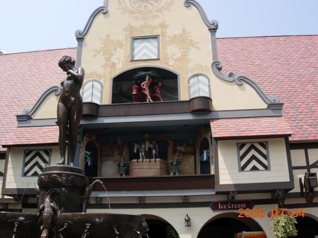 """In the """"Germany"""" section of Busch Gardens."""