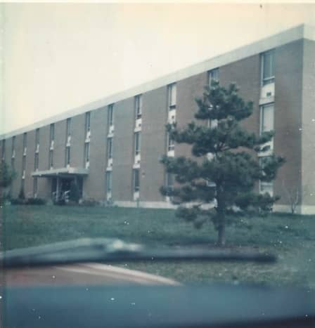 An Air Force Dormitory, Ft. Meade, MD, circa 1976.