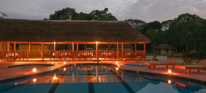 Victoria Forest Resort Pool side