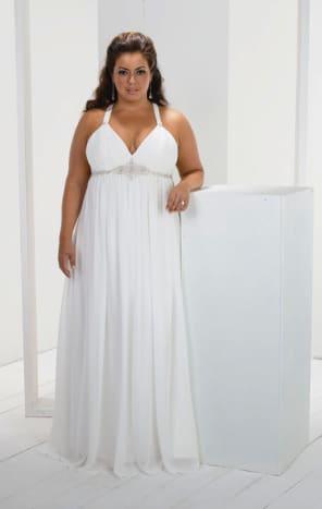 Fabric: Chiffon. Color: White, Ivory.