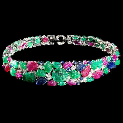 The Mountbatten Bandeau, created in 1928 by Cartier, most likely with antique Indian gems