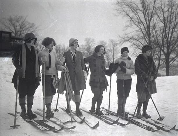 1925 Skiers in Trousers