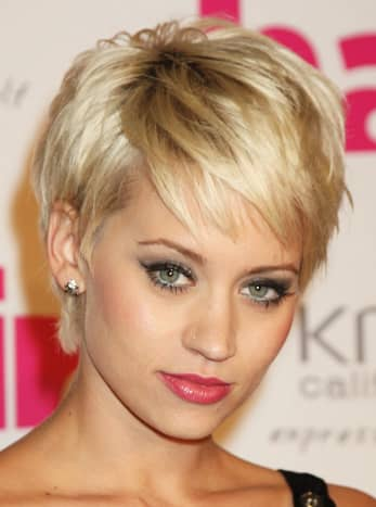 A short style with layers really enhances the cheekbones and shows your true beauty.