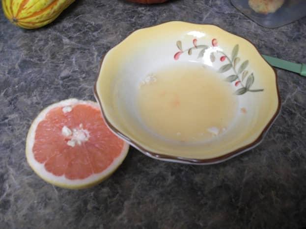 Squeeze and Strain Pink Grapefruit Juice