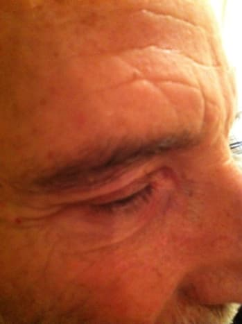 Trimmed eye brow!