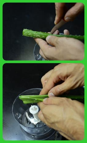 Slice each leaf from the side before pulling it open.