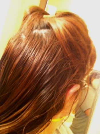 Clip Up Hair to Prepare for Straightening