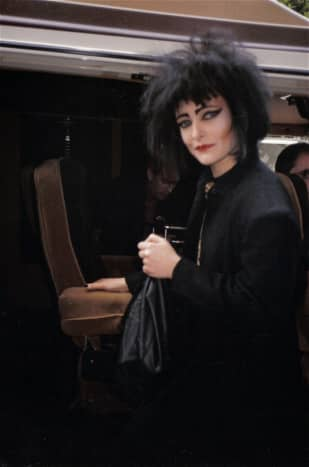 Siouxsie Sioux 1986. The queen of goth culture had big, jet black hair, heavy eyeshadow, iconic eyeliner, and was always dressed in black.