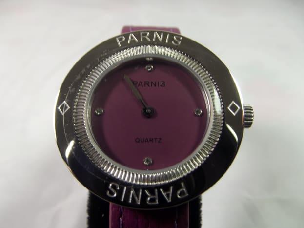 Parnis Purple 33mm quartz women's watch