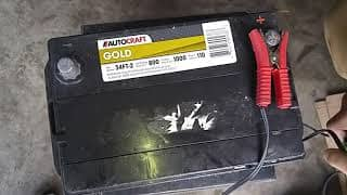 Turned-in battery being tested.