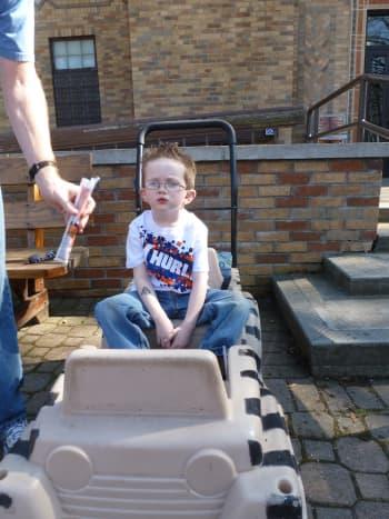 A wagon is an excellent stroller alternative for older kids.