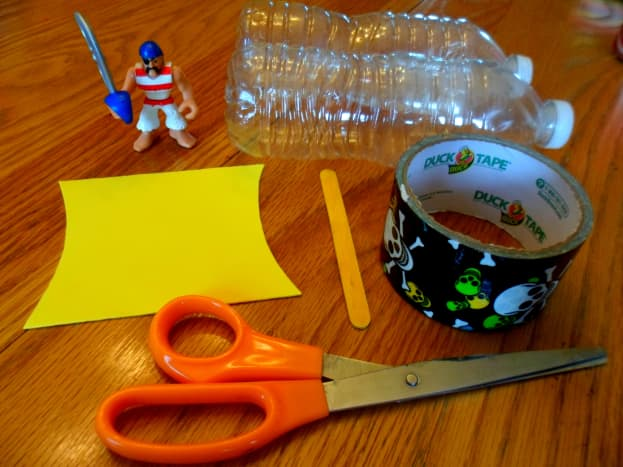 The supplies to make your pirate ship.