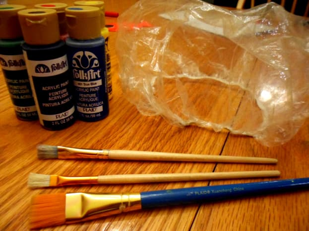 The supplies to create a fun shower cap.