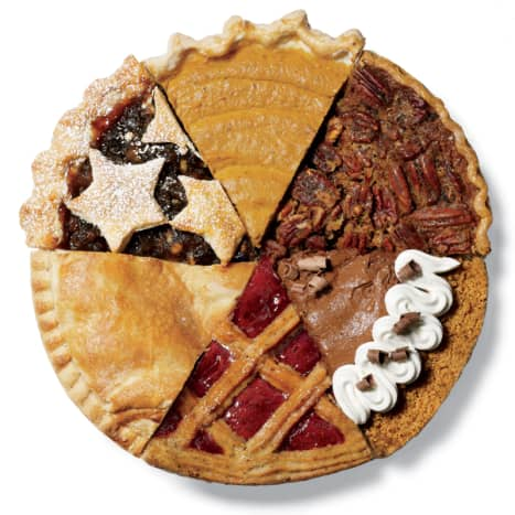 There are many kinds of pie.