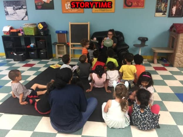 Reading and telling stories helps to build cognitive skills.