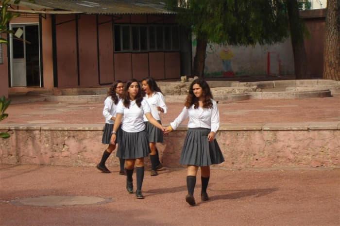 Modern music academy uniform.