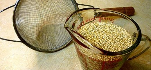 Measure out the quinoa