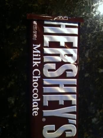 We use Hershey's milk chocolate, but you can use any brand you choose.