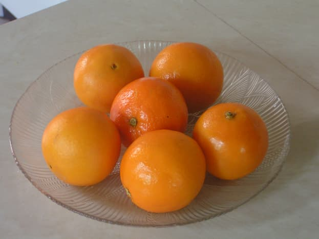 Soft-skin oranges after boiling. I used 6 because they were not big.