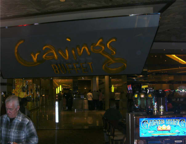 The entrance to the Cravings buffet in the Mirage casino