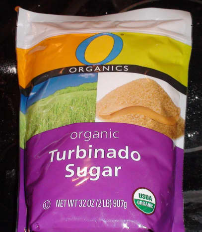 Organic Turbinado / Raw Sugar. Made from raw sugar cane, this sugar is completely unprocessed. The crystals are large and crunchy.