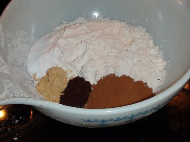 Dry Ingredients. I like my cookies spicy! Use less spices if you want your cookie mild.