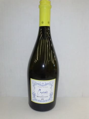 A very common moscato. This D'asti wine is extremely easy to find and is relatively inexpensive.