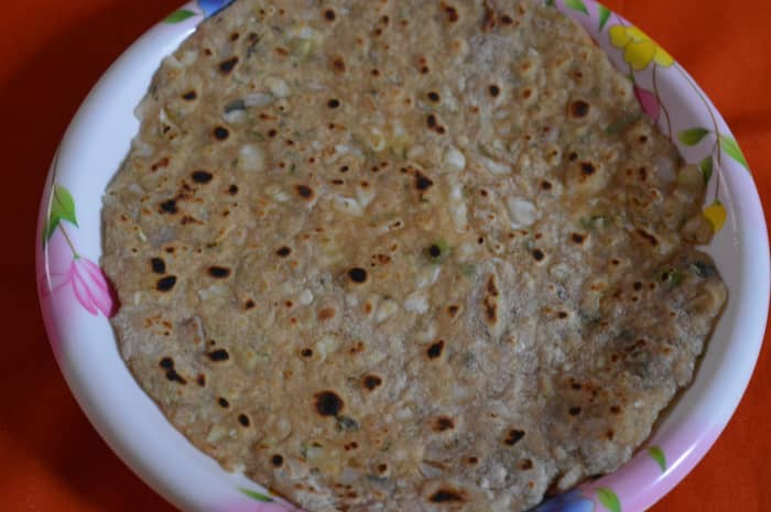 Cabbage and Onion Paratha