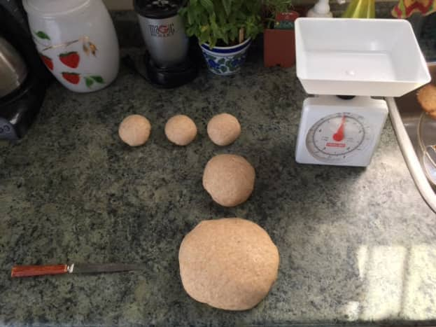 Dough divided into proper weights (Photo 5)