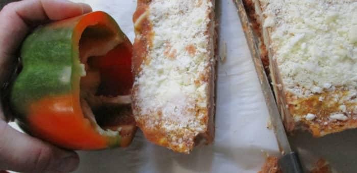 measure lasagna to pepper