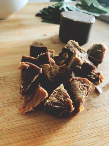 Dark palm sugar.