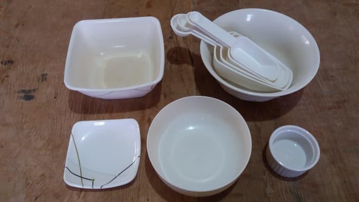 utensils for preparing a chicken dish