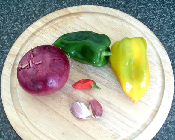 Vegetables for pasta sauce