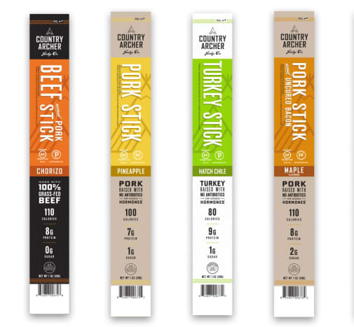 Different flavors of Country Archer beef sticks