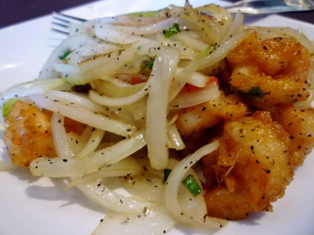 Salty pepper shrimp