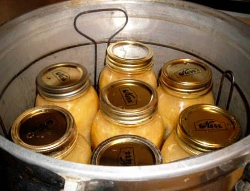 Place jars in canner rack.