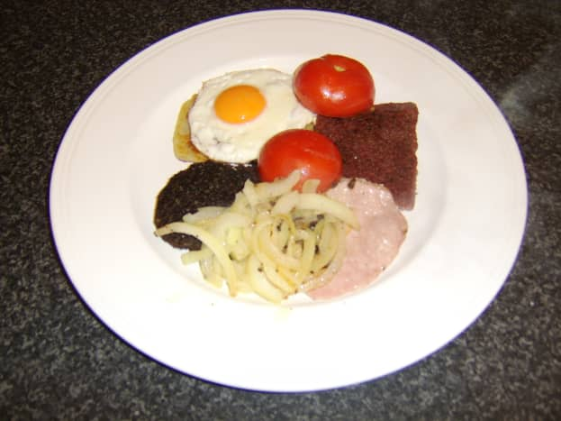 Lorne Sausage as part of a Full Scottish Breakfast