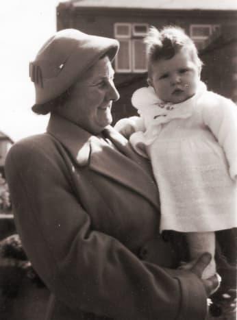 Aunty Jenny holding me—yes, it's me!