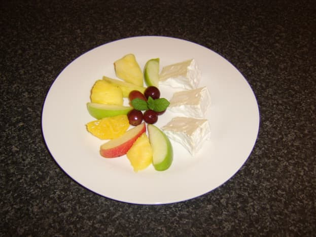 Many different types of fruit are considered lucky to eat at New Year, particularly grapes.
