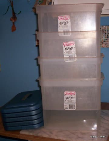 The containers we used to make the starter.