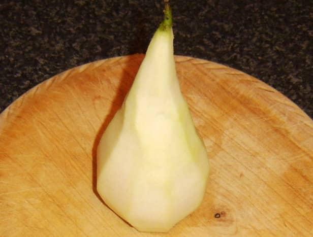 Pear prepared for poaching