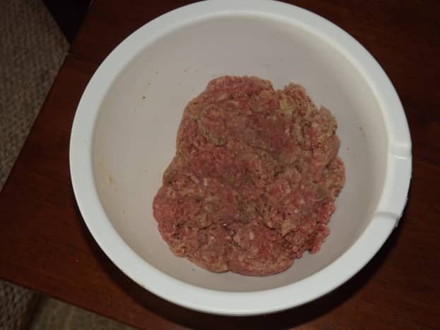 Ready to be turned into meatballs.