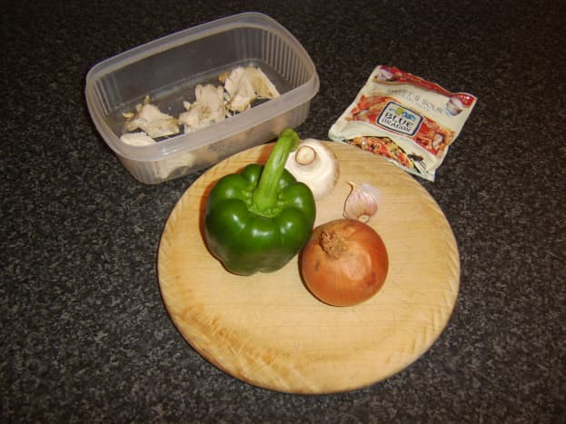 Principal ingredients for sweet and sour stir fry