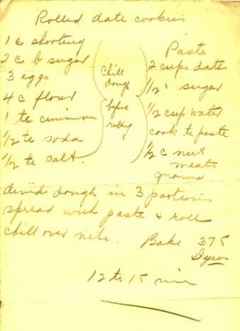 My Grandma's handwritten recipe