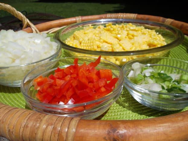 Chop all ingredients