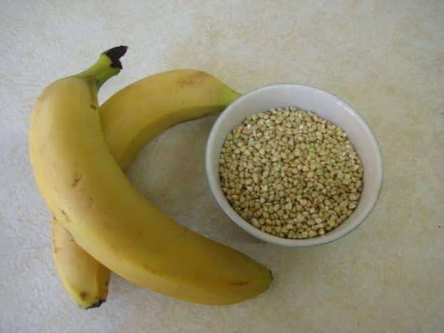 The main ingredients: banana and buckwheat.